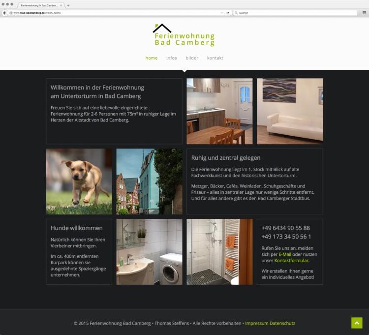 dreihochzwo - Webdesign Wiesbaden - Ferienwohnung Bad Camberg Webseite 1