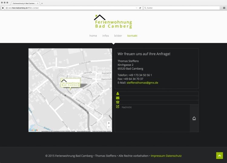 dreihochzwo - Webdesign Wiesbaden - Ferienwohnung Bad Camberg Webseite 2