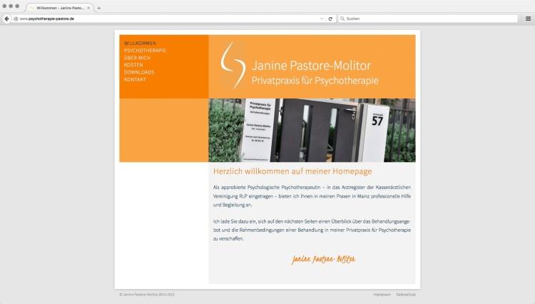 dreihochzwo - Webdesign Wiesbaden - Privatpraxis für Psychotherapie Webseite 1