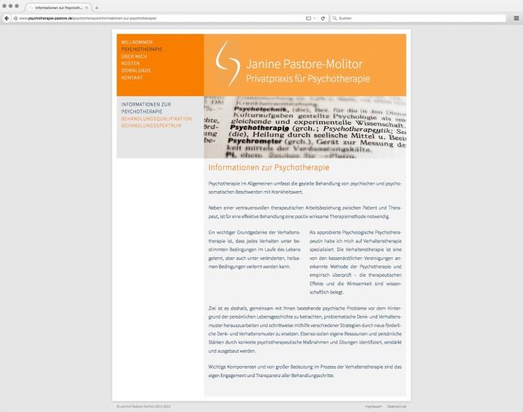 dreihochzwo - Webdesign Wiesbaden - Privatpraxis für Psychotherapie Webseite 2
